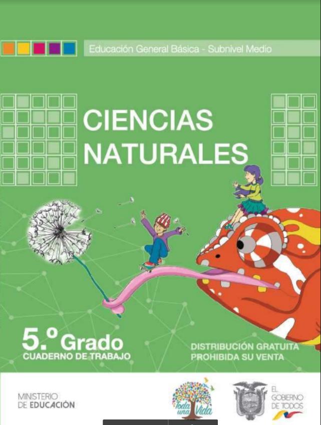 Cuaderno de Trabajo de Ciencias Naturales 5 Resuelto
