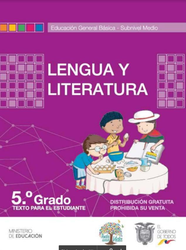 Cuaderno de Trabajo de Lengua y Literatura 5 Resuelto