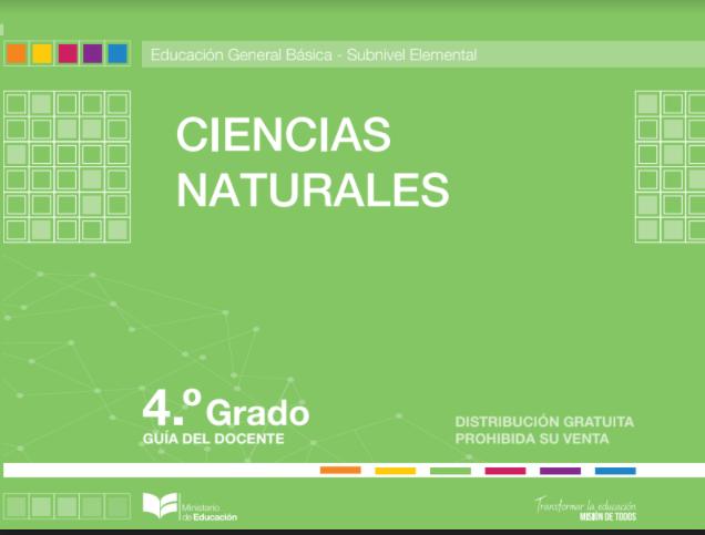 Libro de Ciencias Naturales 4 Cuarto Grado Resuelto