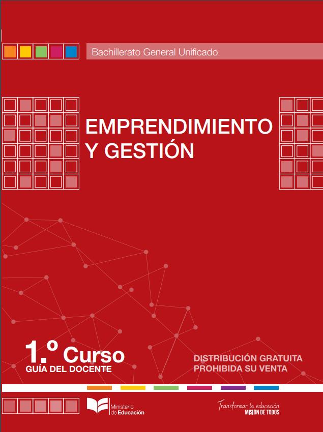 Libro de Emprendimiento y Gestion 1 Primero de Bachillerato BGU Resuelto