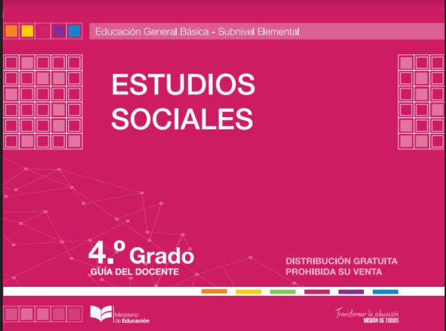 Libro de Estudios Sociales 4 Cuarto Grado Resuelto