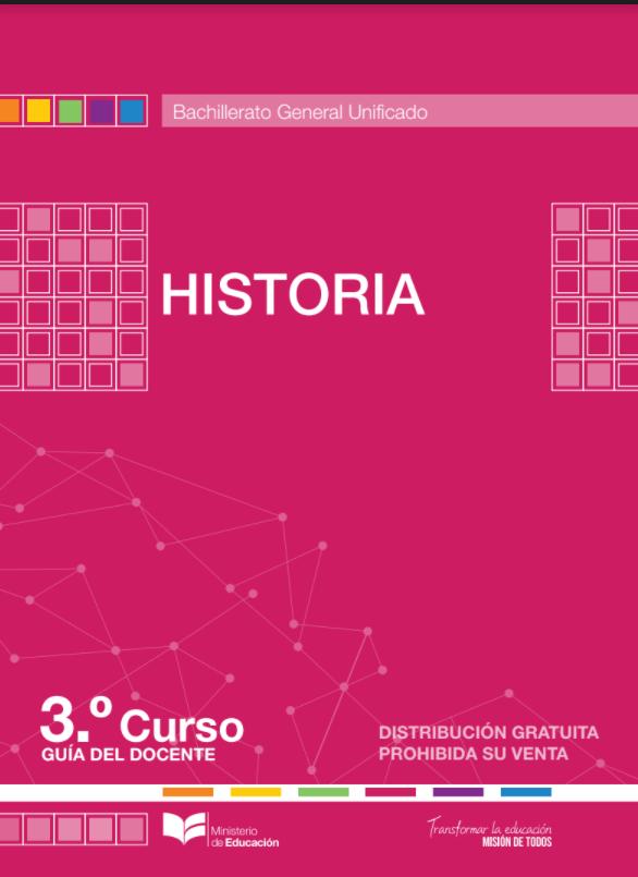 Libro de Historia 3 Tercero Bachillerato BGU Resuelto