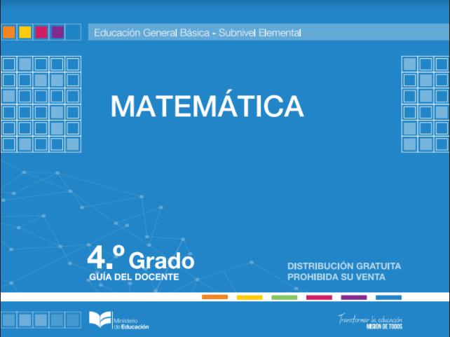 Libro de Matemáticas Resuelto 4 Cuarto Grado