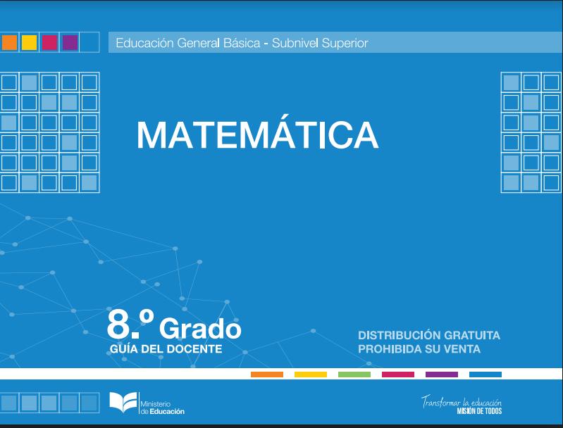 Libro de texto de Matematicas 8 Octavo Año Resuelto